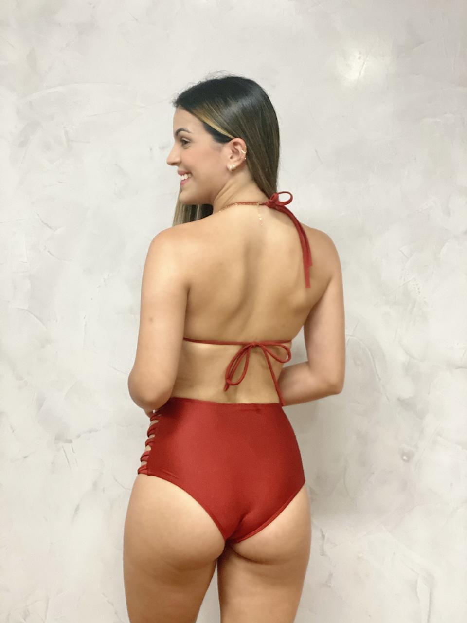 Hot Pants Lateral Cobre Metalizado     - RMCE BRAZIL