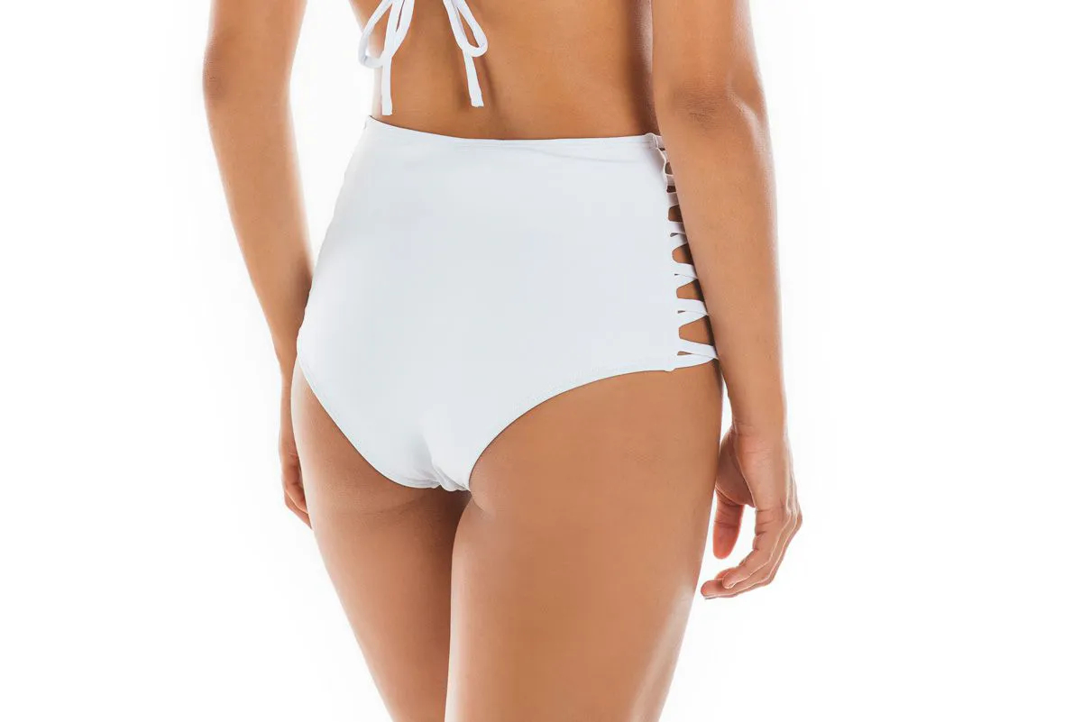 Hot Pants Lateral Cruzada Branco   - RMCE BRAZIL
