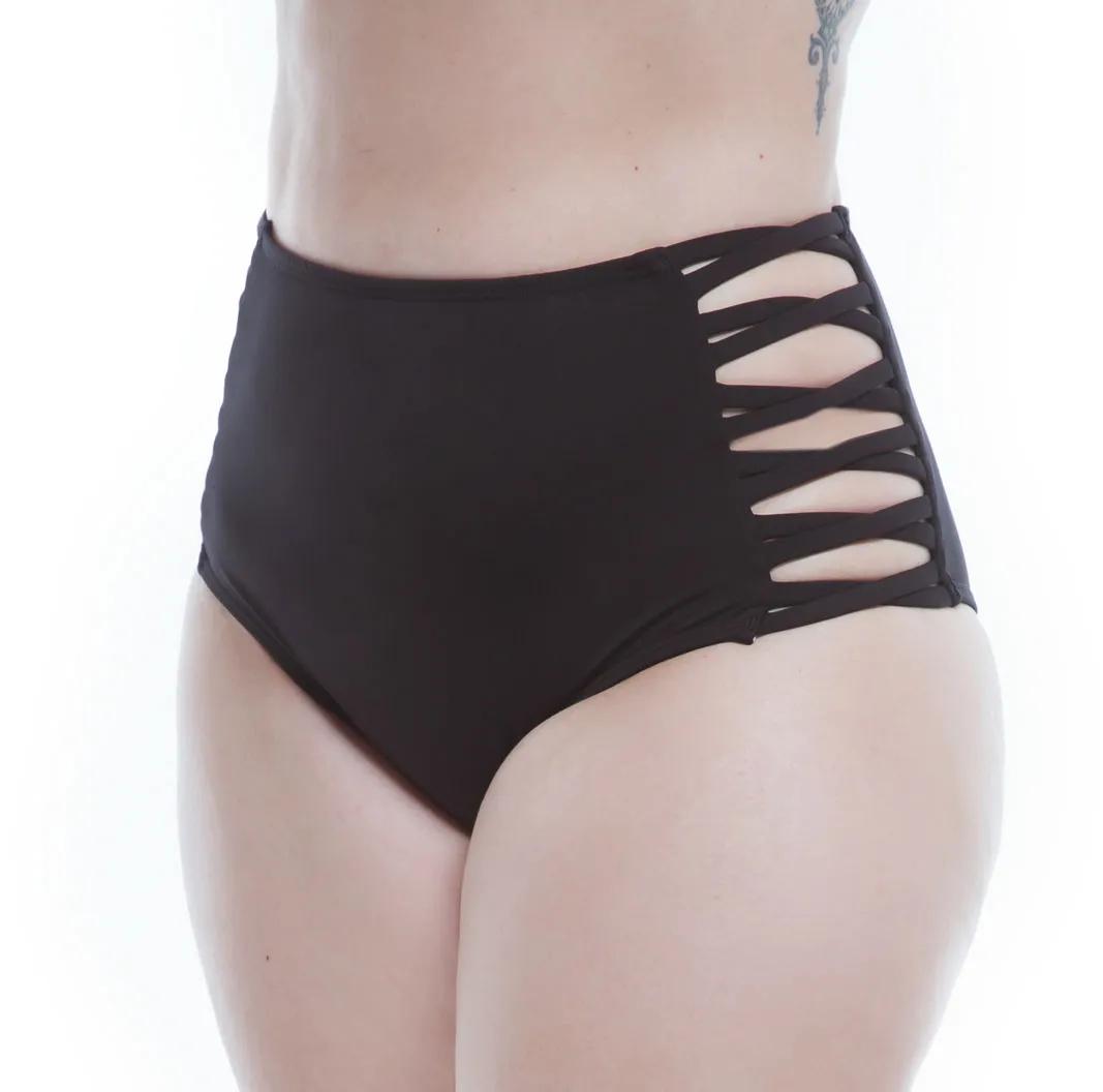 Hot Pants Lateral Cruzada Preto