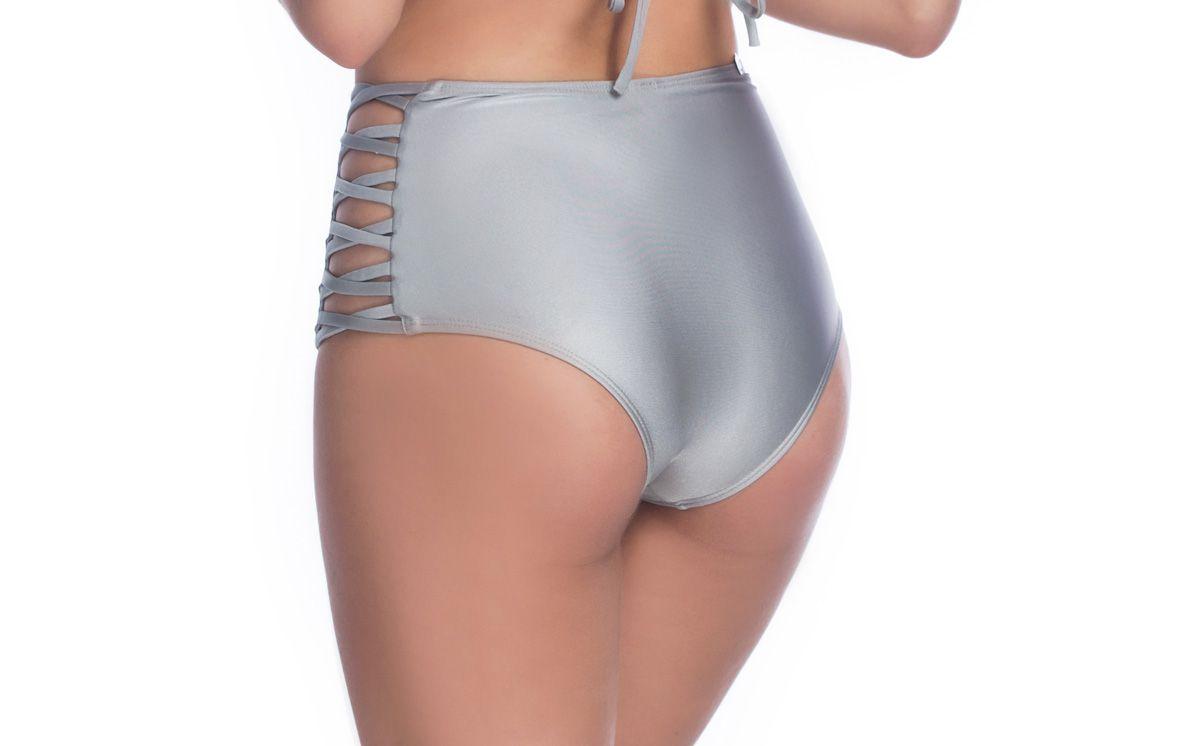 Hot Pants Lateral Cruzado Prata   - RMCE BRAZIL