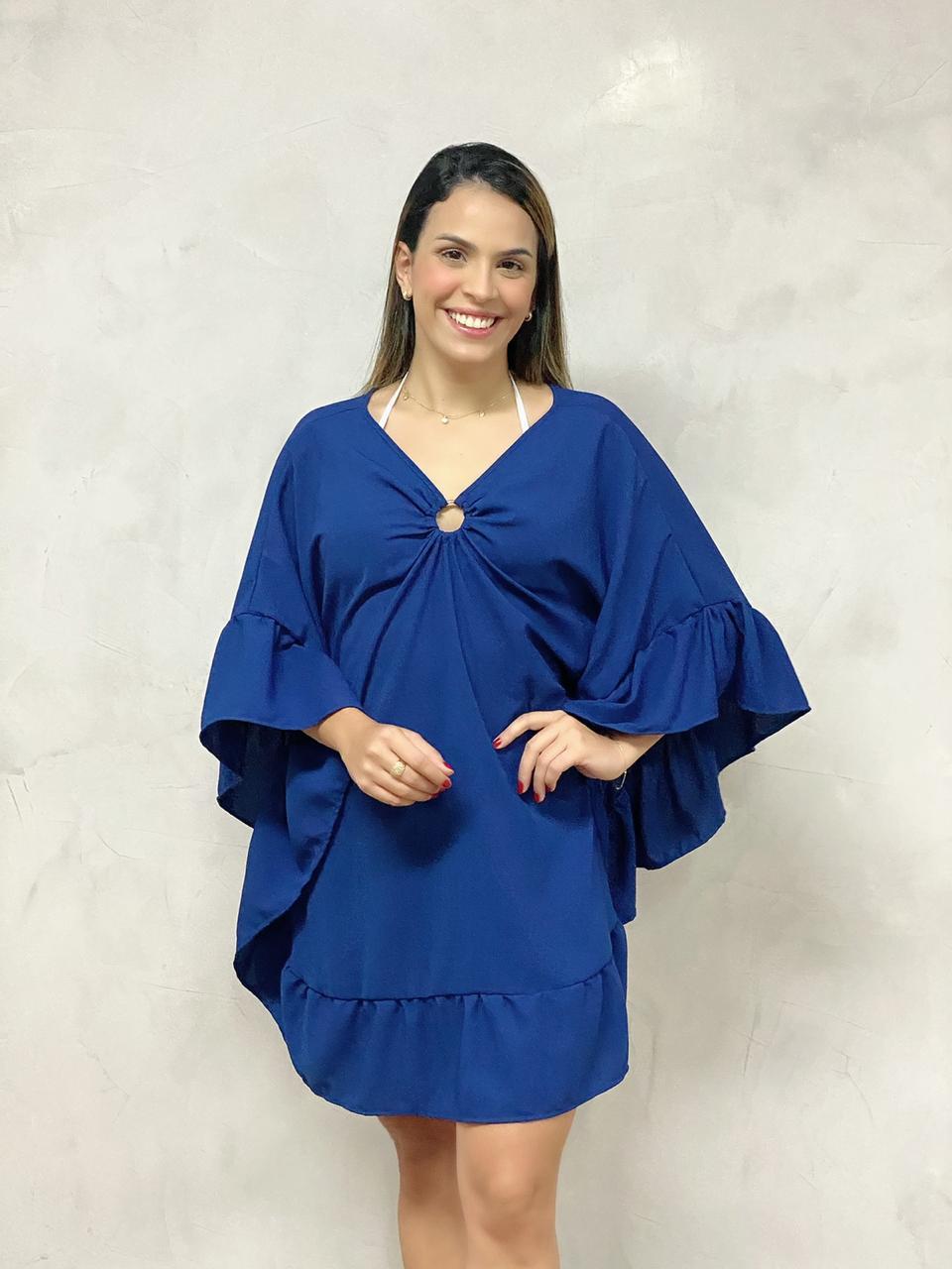 Kafta Argola Babados Azul   - RMCE BRAZIL
