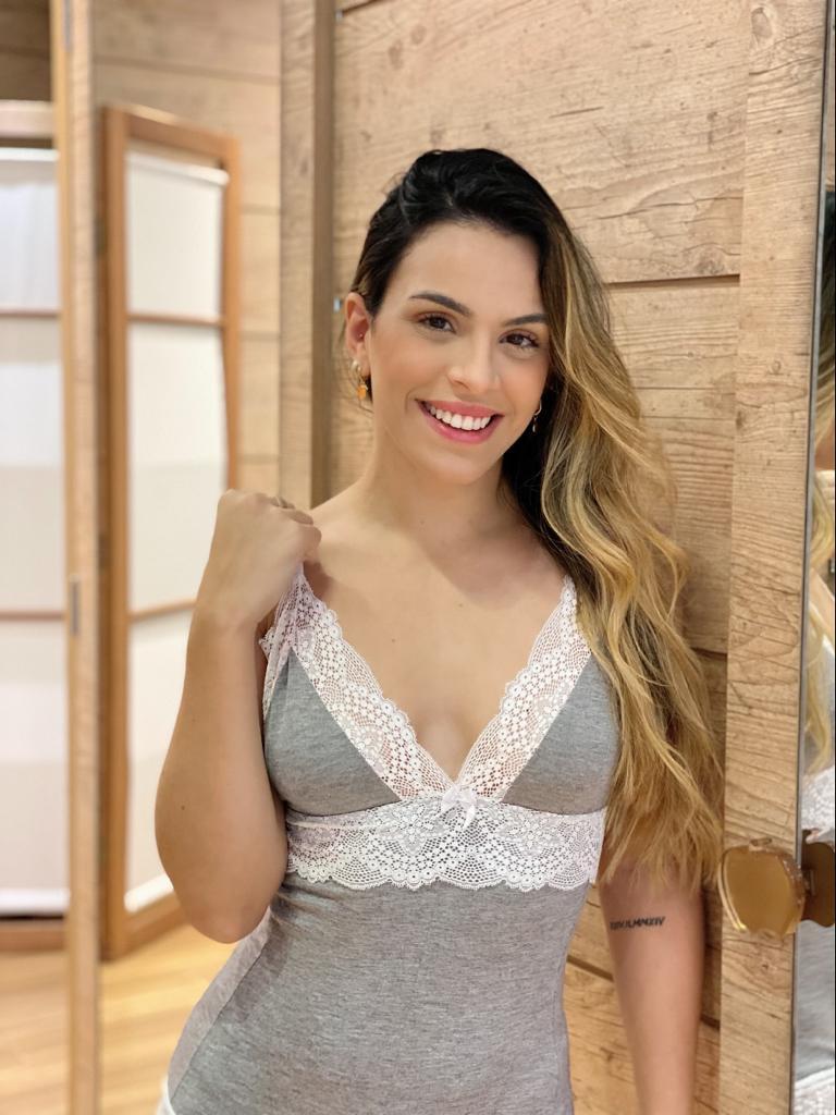 Macaquinho Mescla Renda  - RMCE BRAZIL