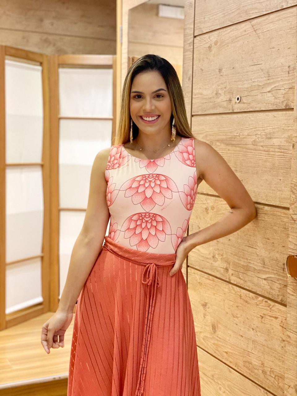 Maiô Body com Bojo Flor de Lotus   - RMCE BRAZIL