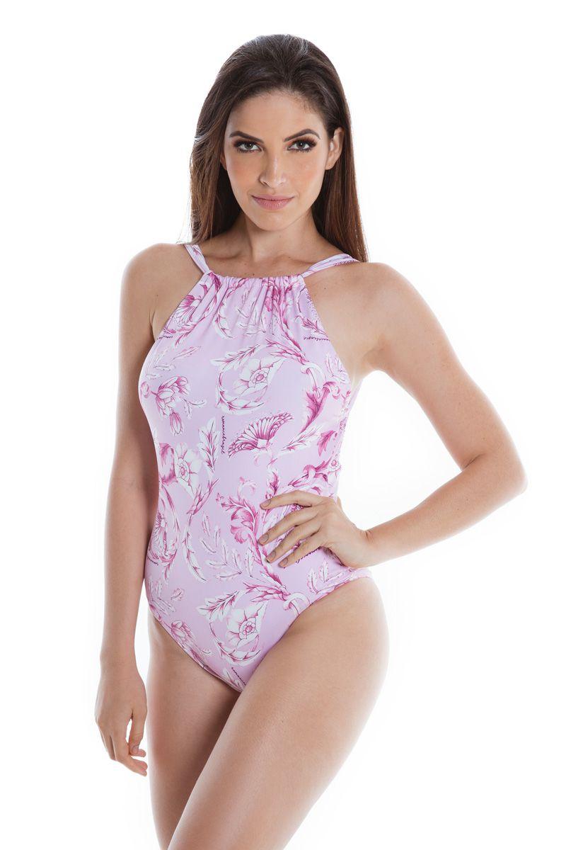 Maiô Body Costa Nua Arabescos Rosé