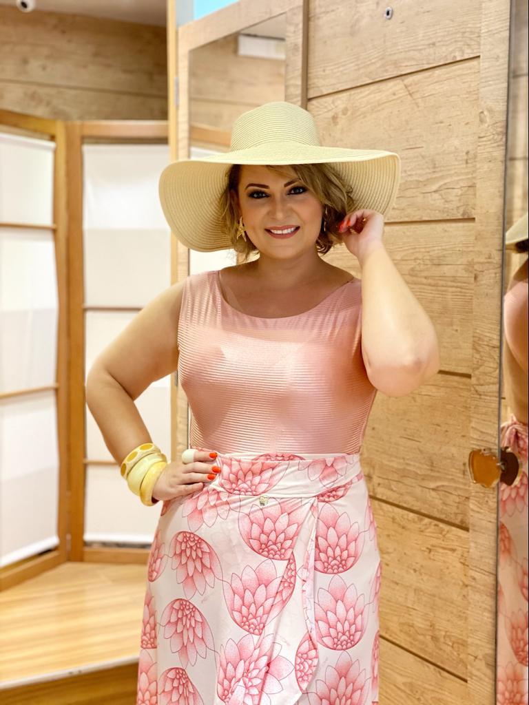 Maiô com Bojo Rose   - RMCE BRAZIL