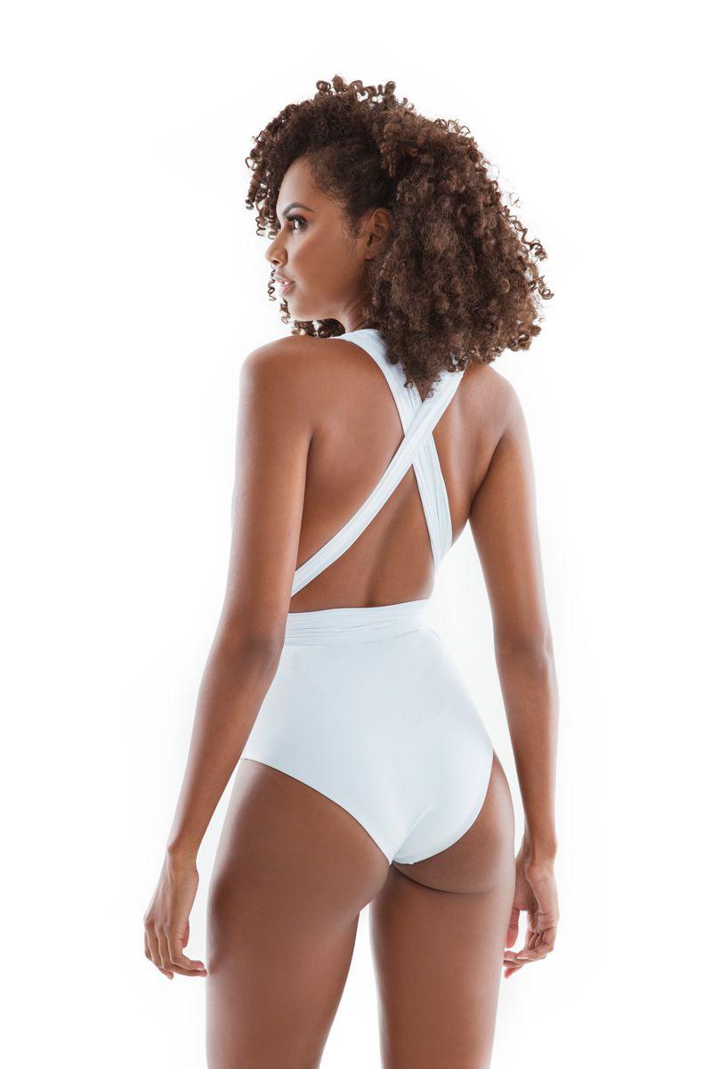 Maiô Body Versátil Branco   - RMCE BRAZIL