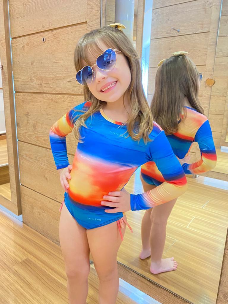 Maiô Infantil Manga Longa Oceano  - RMCE BRAZIL