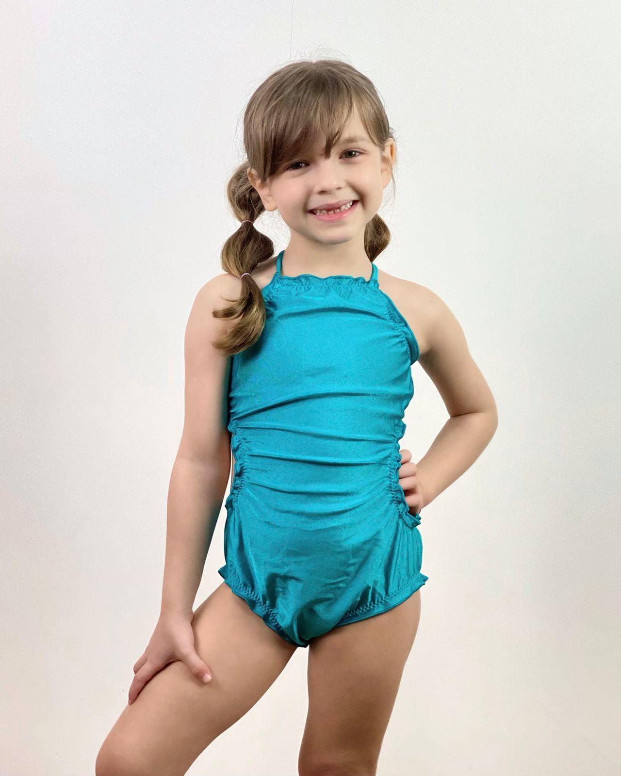 Maiô Infantil Ripple Azul Turquesa