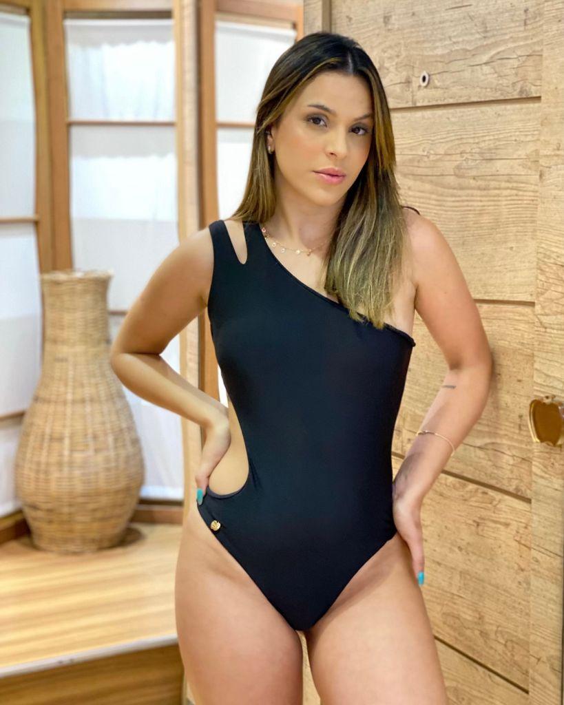 Maiô Ombro Decote Preto  - RMCE BRAZIL