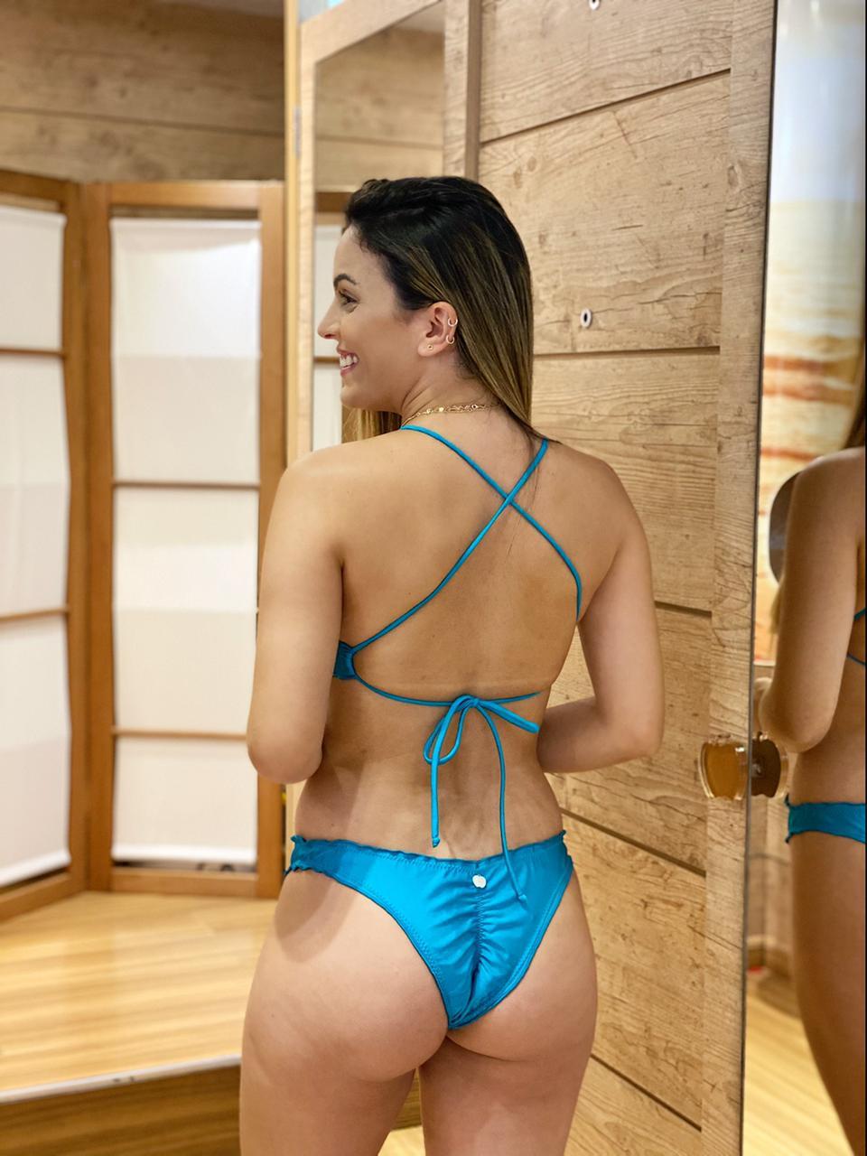 Maiô Ripple Adulto Azul Turquesa  - RMCE BRAZIL