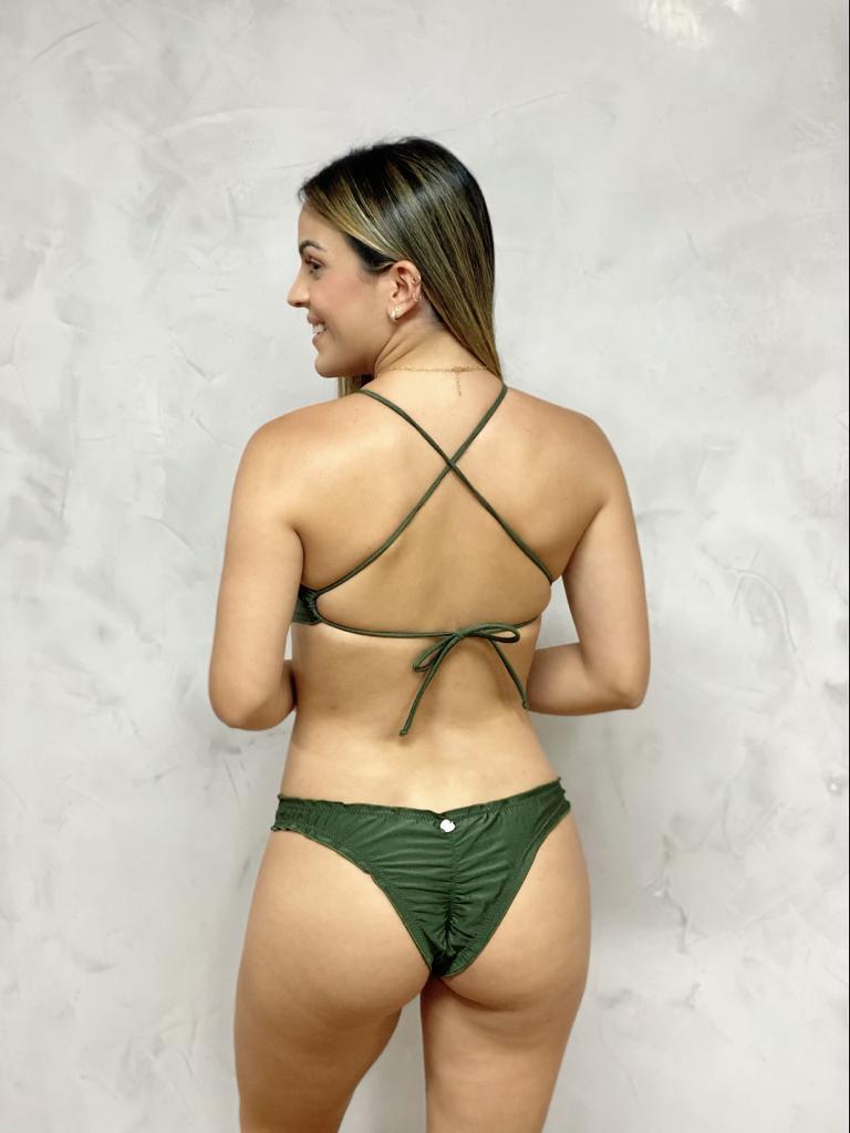 Maiô Ripple Adulto Verde Metalizado   - RMCE BRAZIL