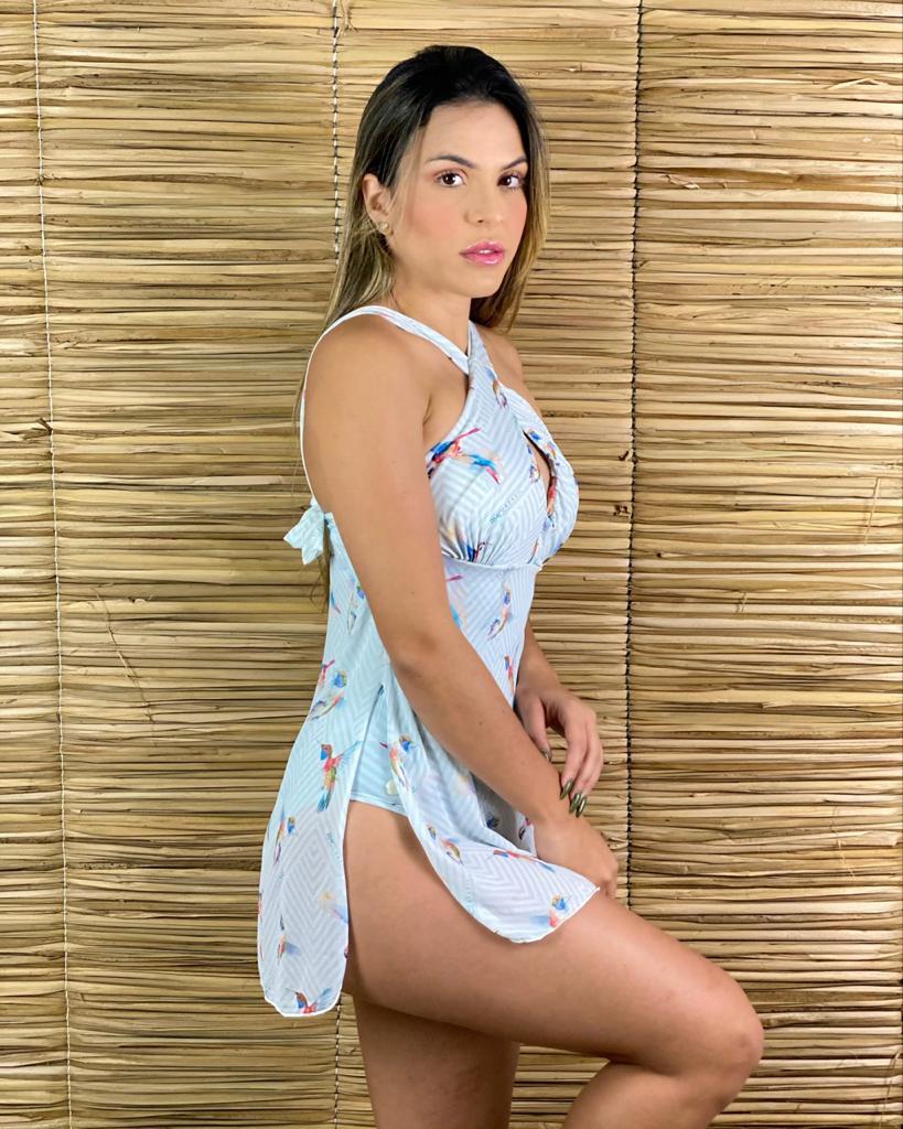Maiô Vestido Beija Flor  - RMCE BRAZIL