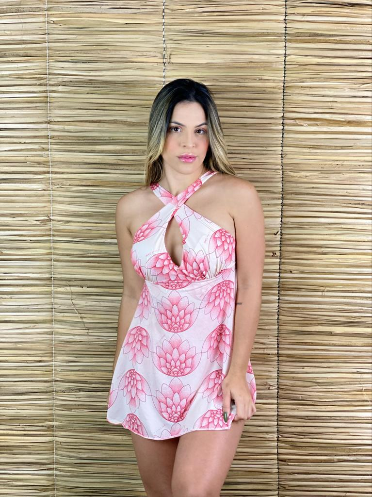 Maiô Vestido Flor de Lotus