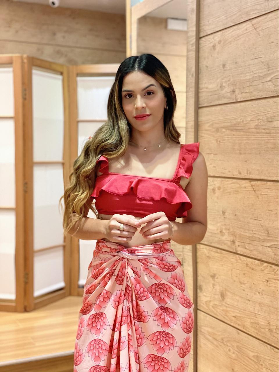 Pareô com Ponteira Flor de Lotus  - RMCE BRAZIL