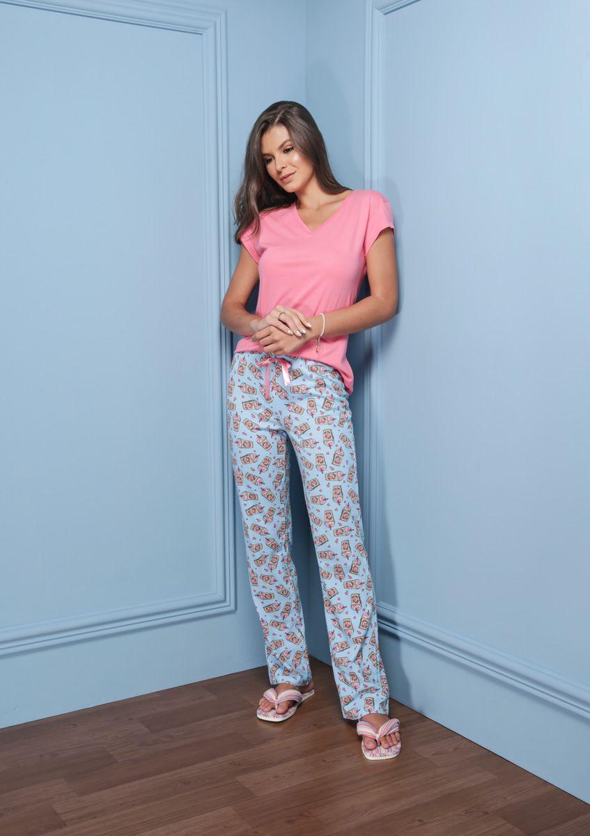Pijama Adulto Longo Manga Custa