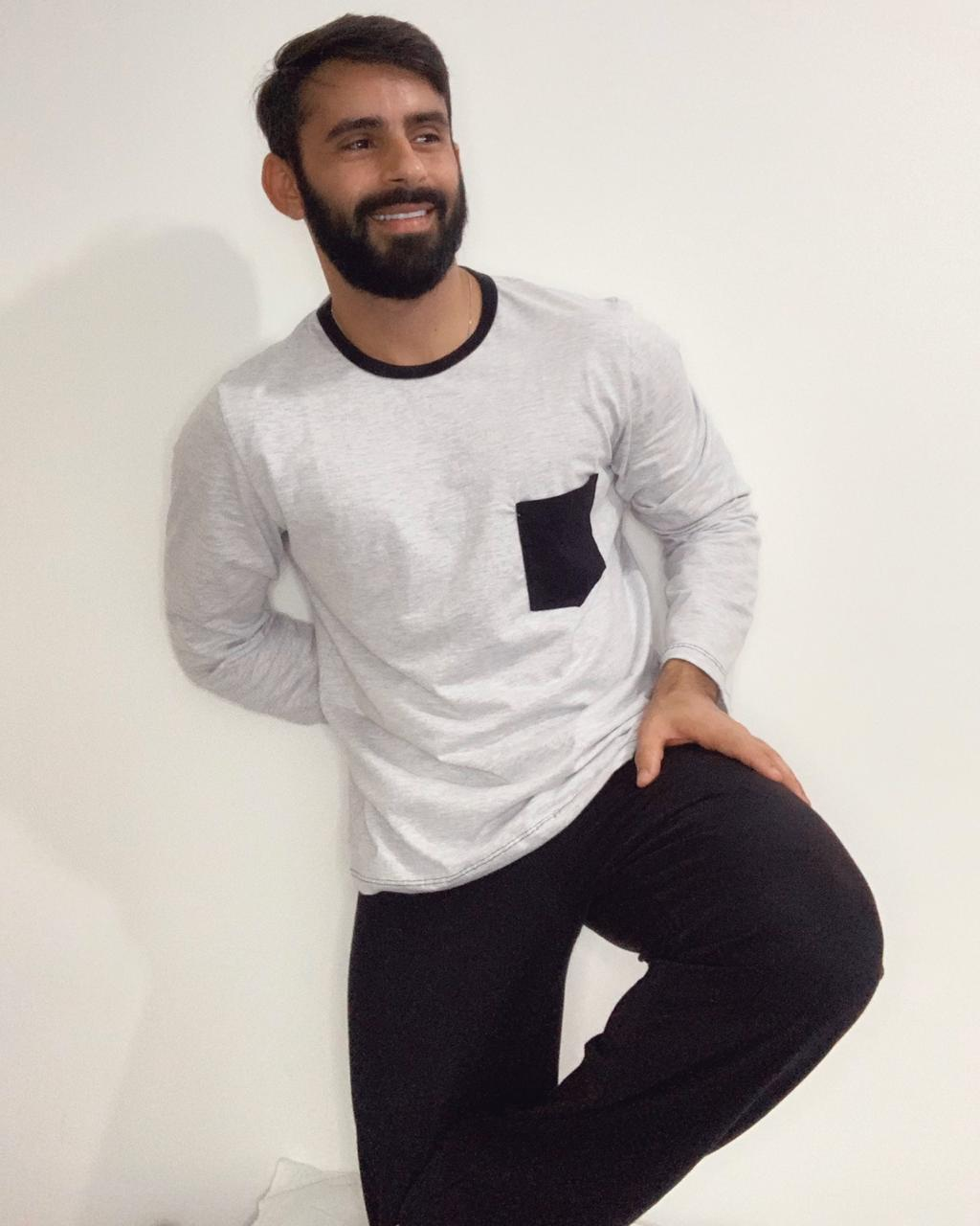Pijama Adulto Longo Masculino
