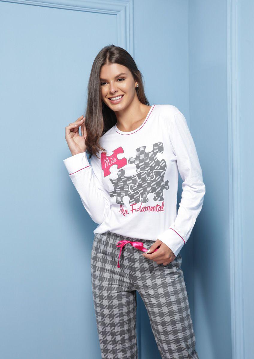 Pijama Longo Adulto Mãe