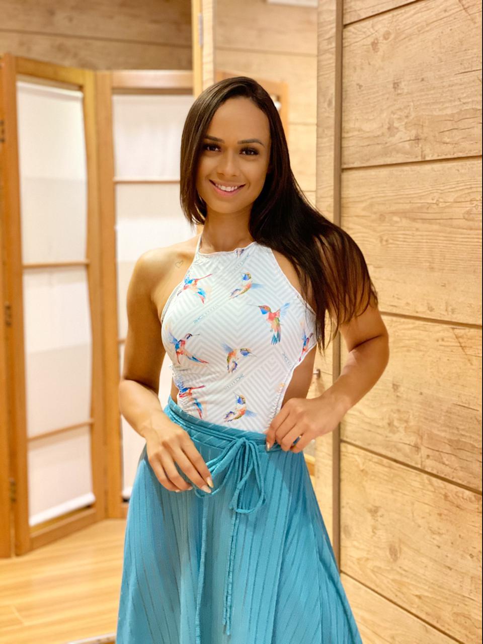 Saia Envelope Pontas Azul Turquesa   - RMCE BRAZIL