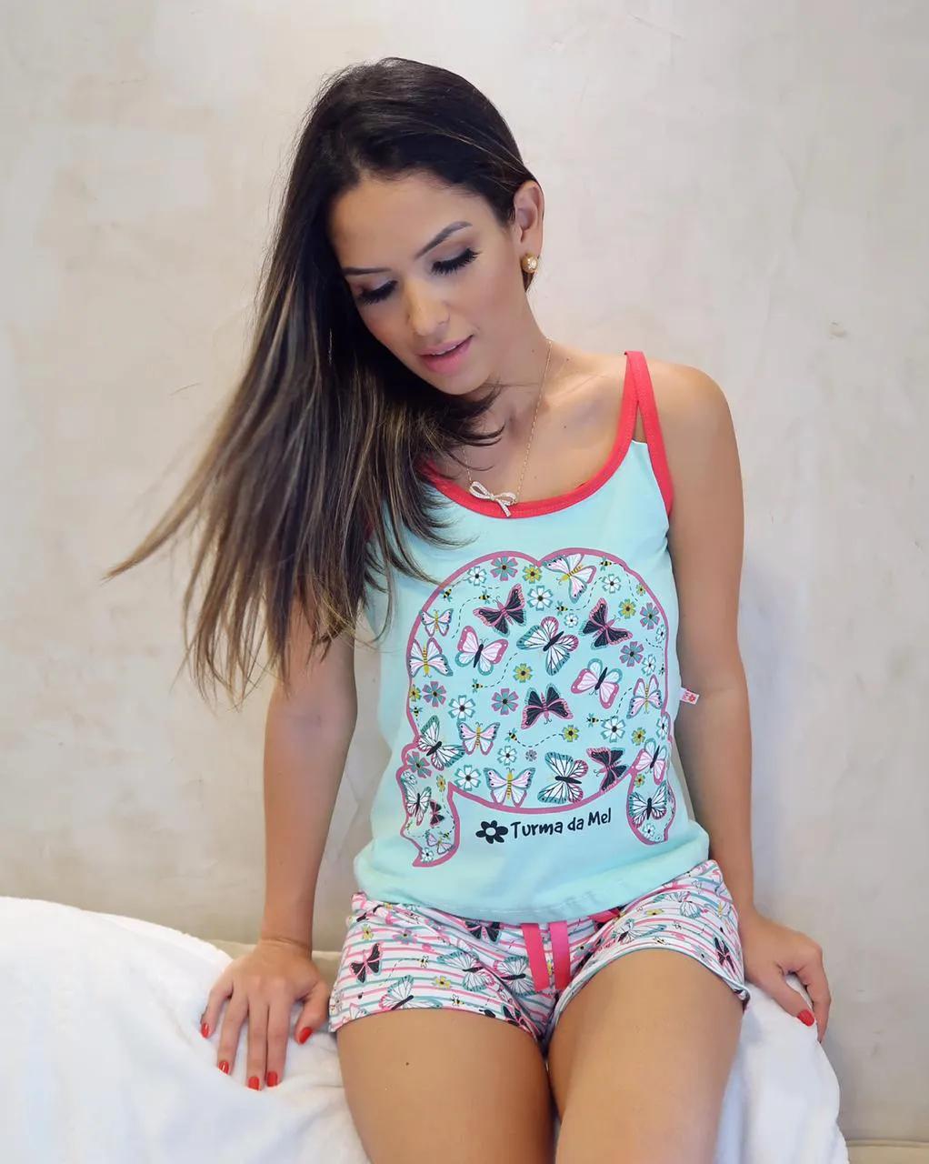 Short Doll Alça Borboleta