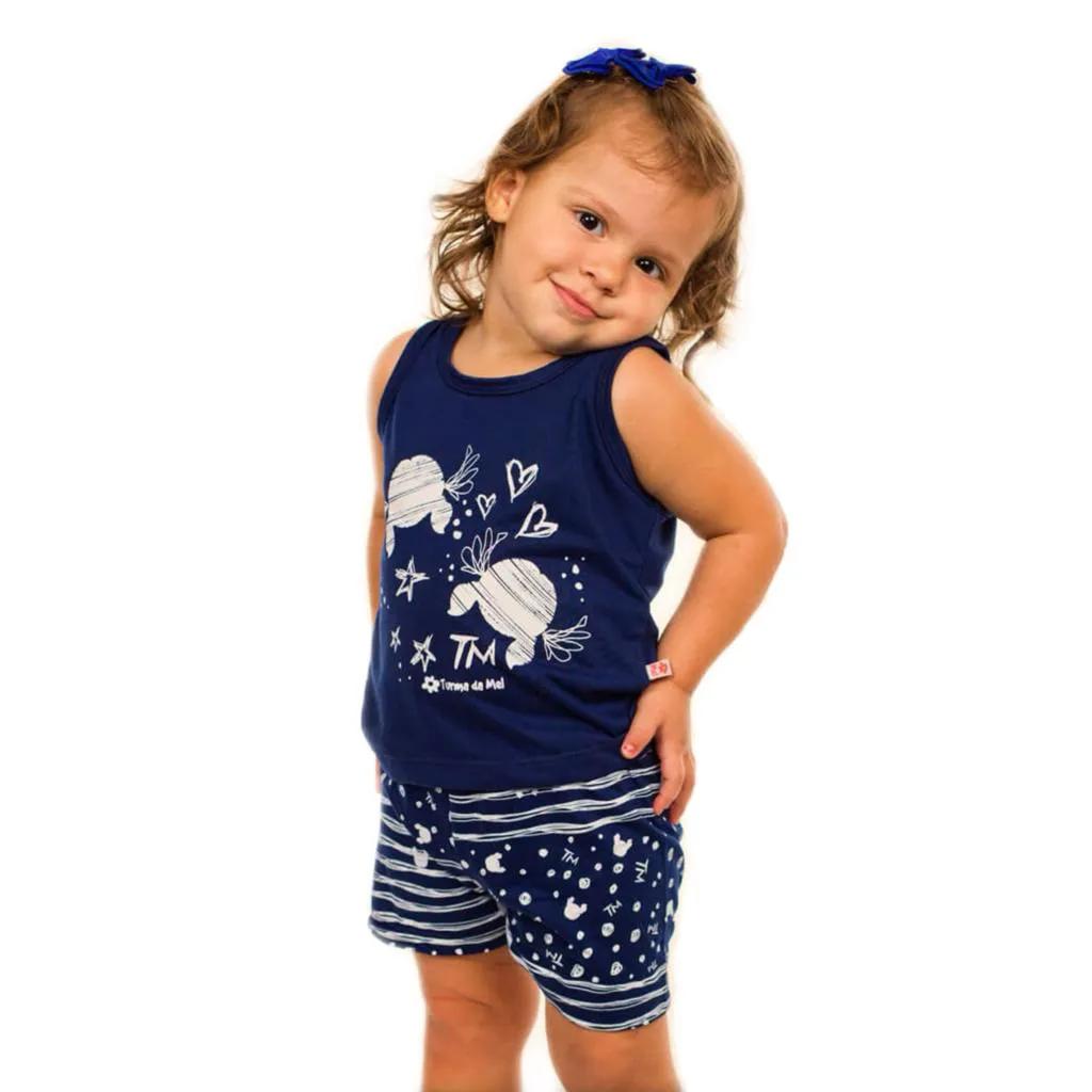 Short Doll Baby Regata Rabisco