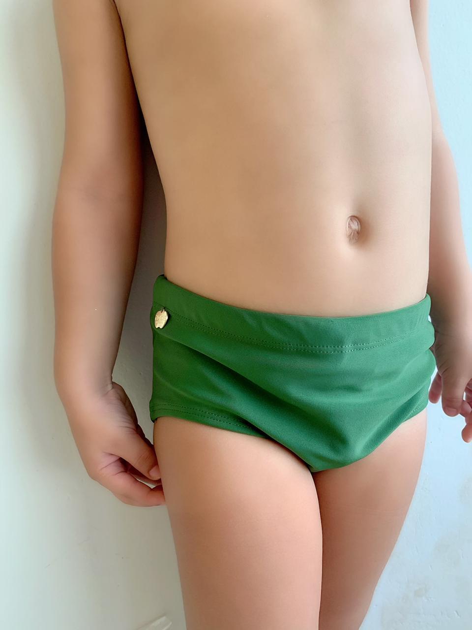 Sunga Infantil Verde  - RMCE BRAZIL