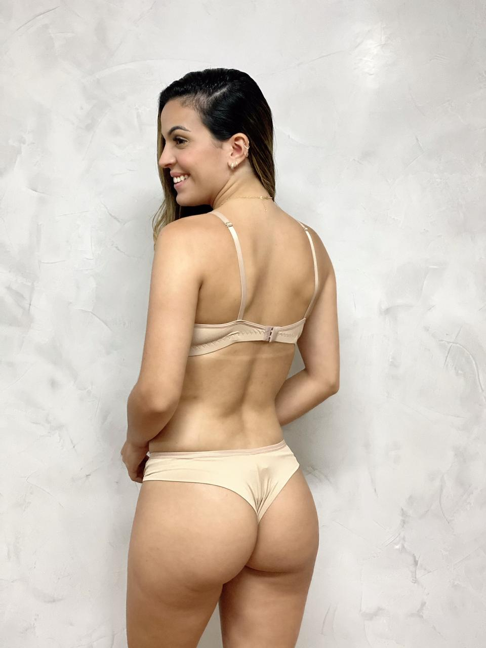 Sutiã Bojo Base Rendão Nude   - RMCE BRAZIL