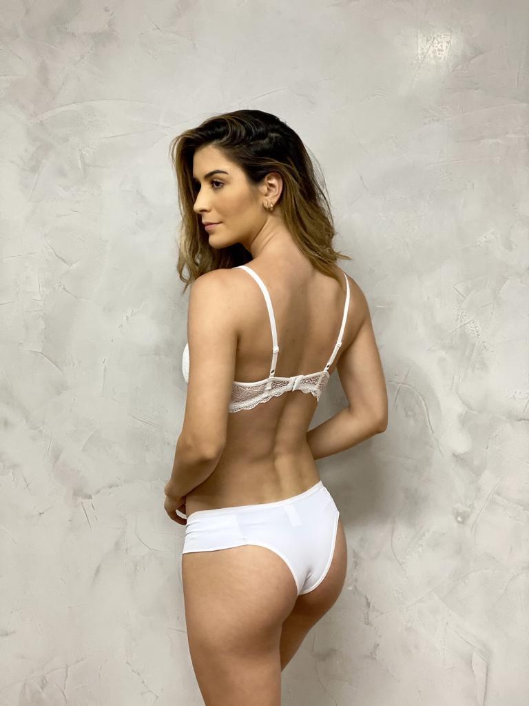 Sutiã Detalhe Renda Branco   - RMCE BRAZIL