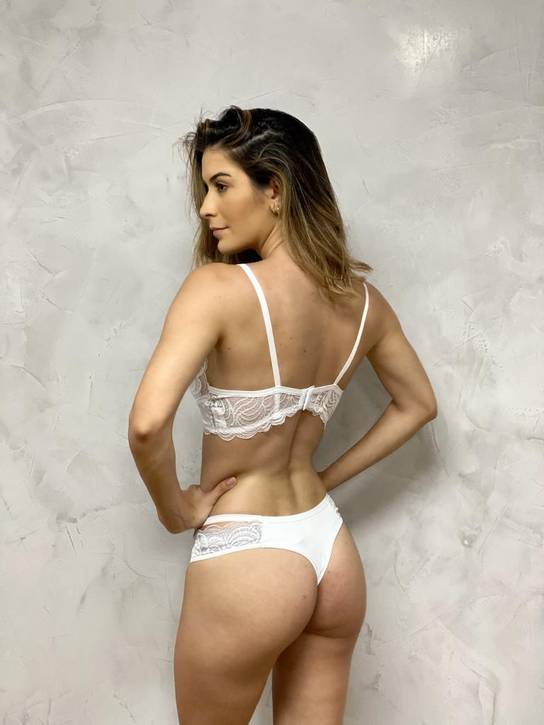 Top Bojo Renda Branco   - RMCE BRAZIL