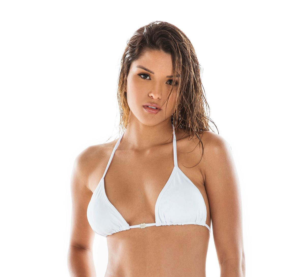 Top Cortina com Bojo Branco
