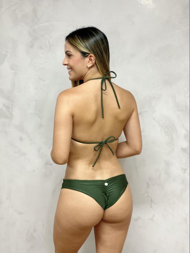 Top Cortina Riplle Verde Metalizado   - RMCE BRAZIL