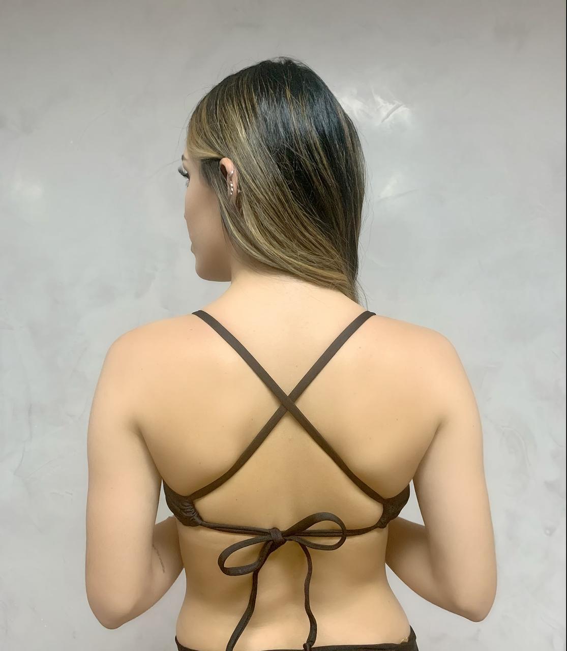 Top Decote Drapeado Preto  - RMCE BRAZIL