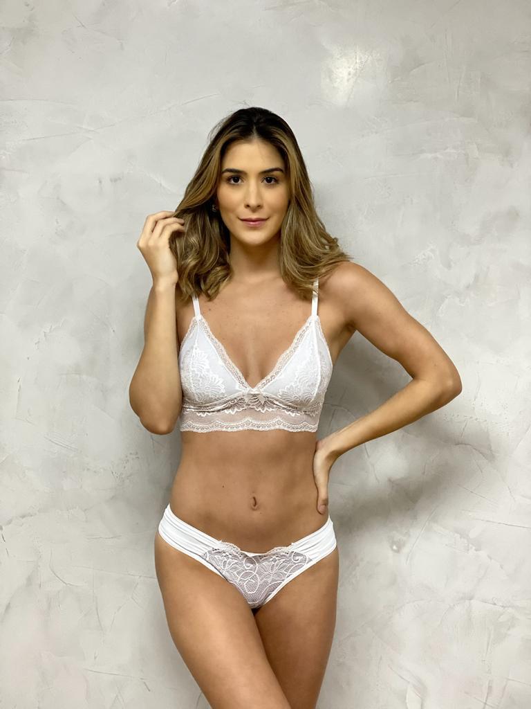 Top Decote Renda Branco  - RMCE BRAZIL