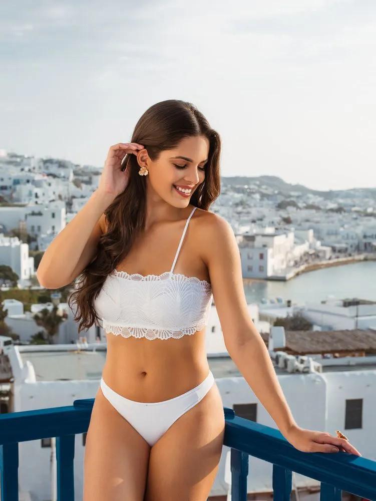 Top Inteiro Alça Renda Branco   - RMCE BRAZIL