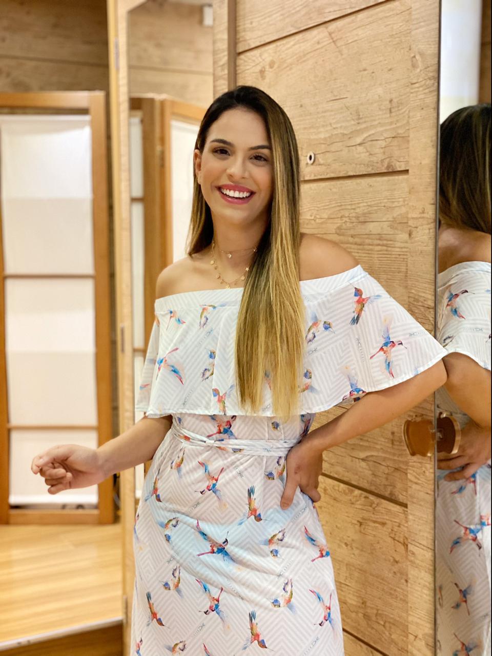 Vestido Ciganinha Beija Flor   - RMCE BRAZIL