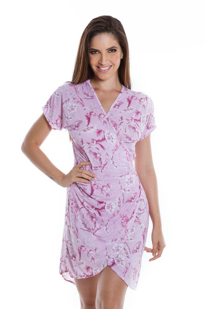 Vestido Envelope Mullet Arabescos Rosé