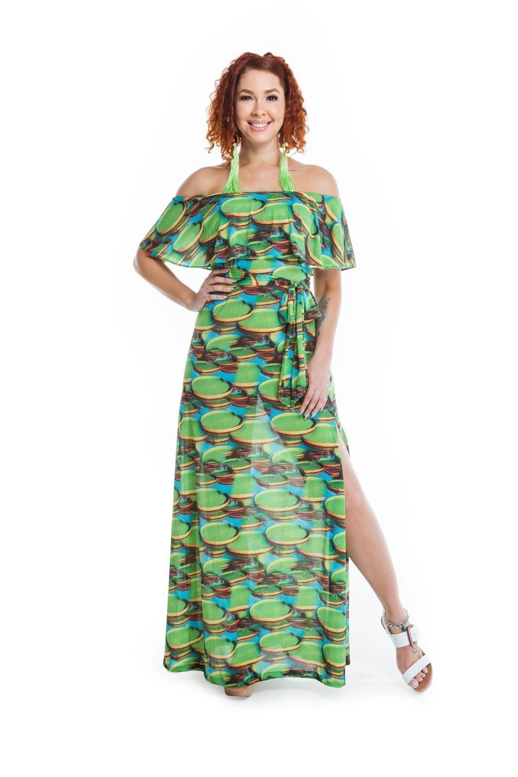 Vestido longo Ciganinha Rondônia   - RMCE BRAZIL