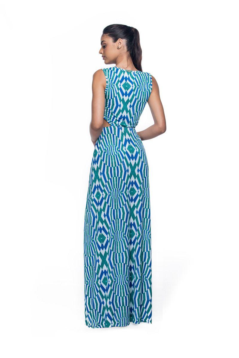 Vestido Longo Fendas Cristal  - RMCE BRAZIL