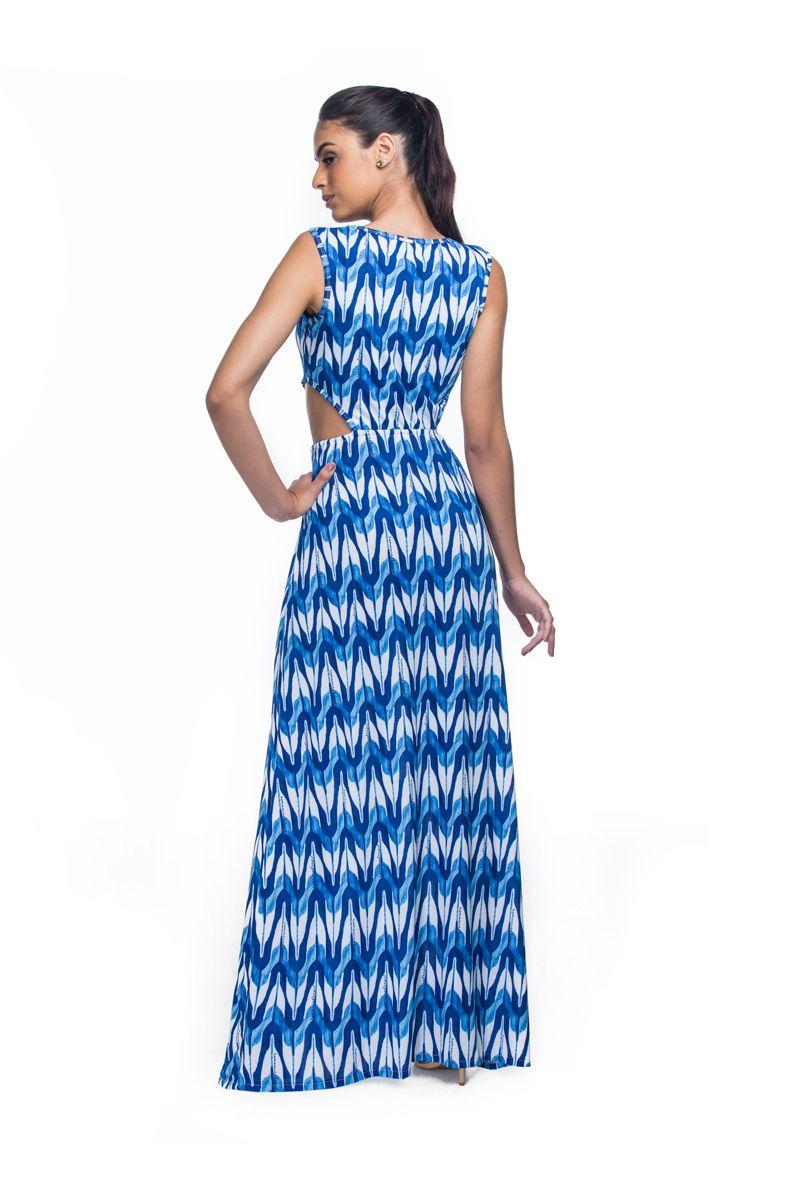 595b37fda4 Vestido Longo Fendas Moulin Print - RMCE BRAZIL