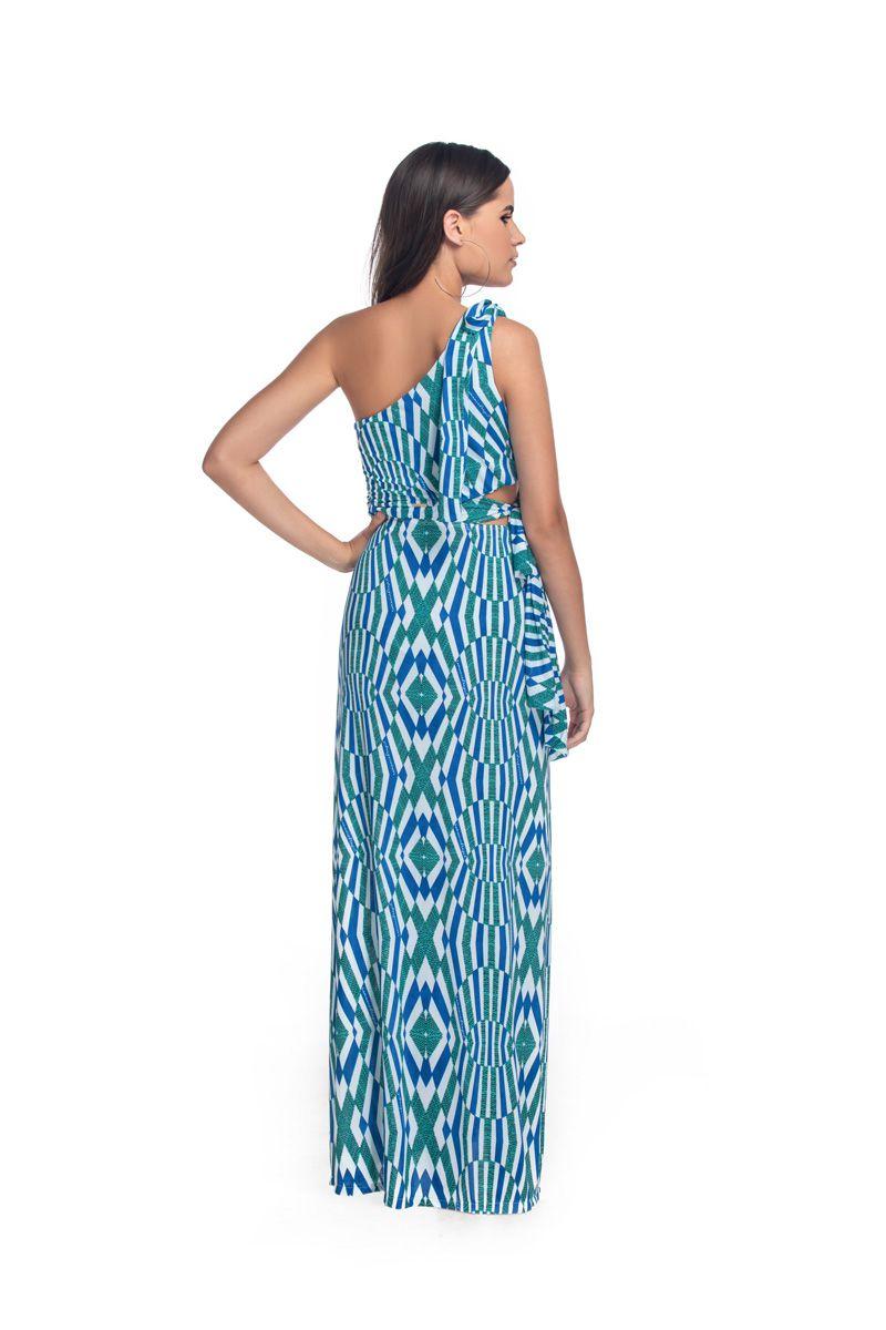 Vestido Longo Ombro Cristal   - RMCE BRAZIL