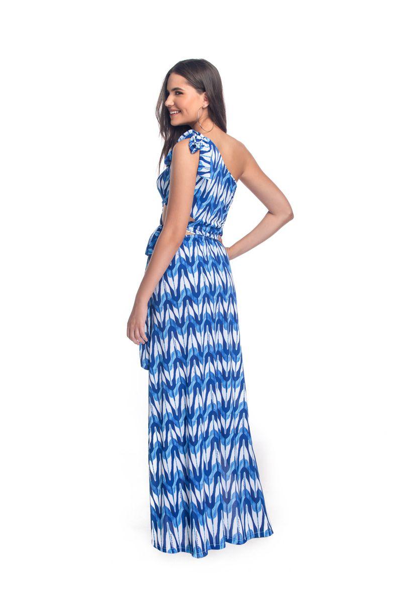 Vestido Longo Ombro Moulin Print  - RMCE BRAZIL