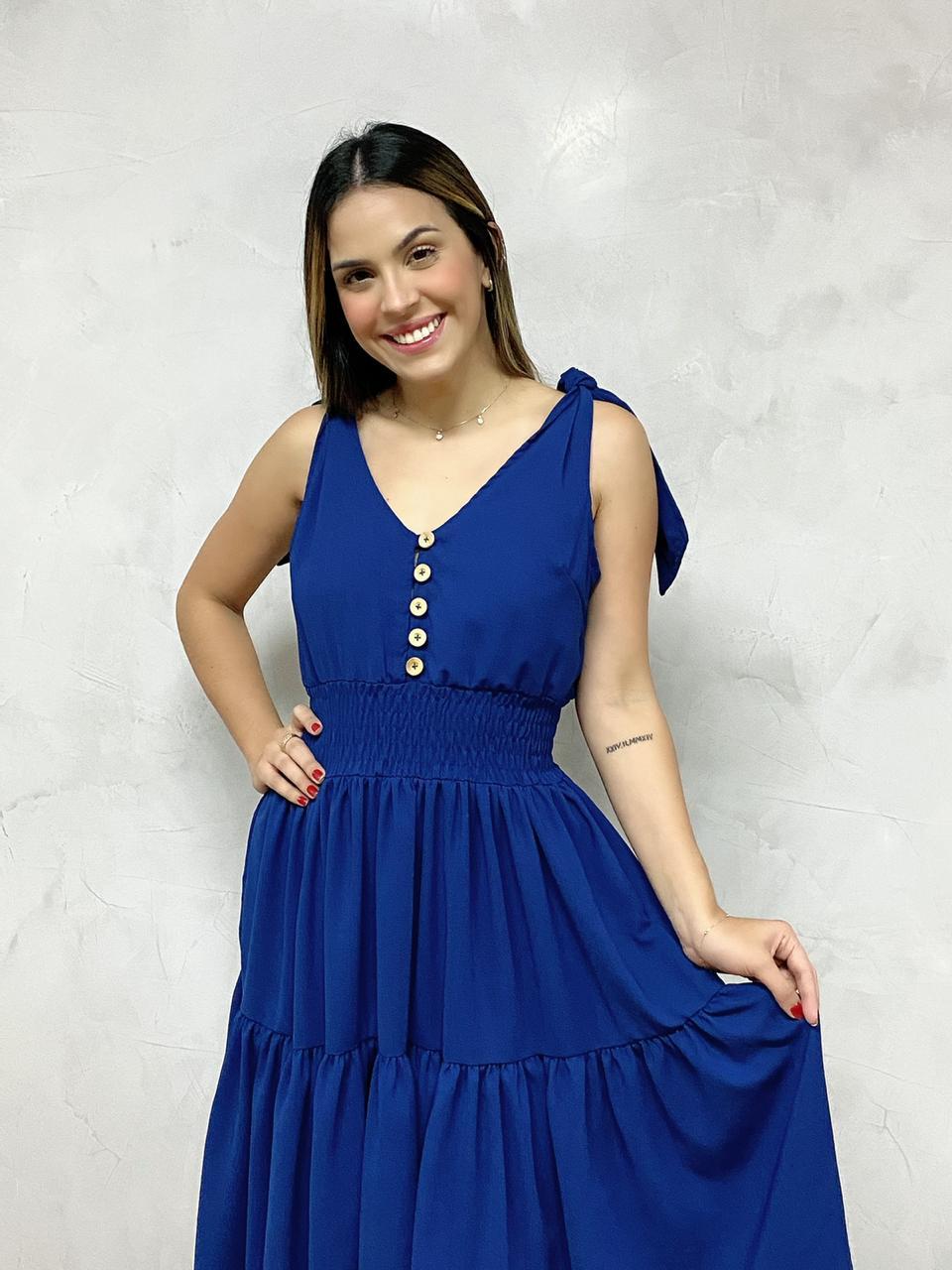Vestido Mindi Alça Azul  - RMCE BRAZIL