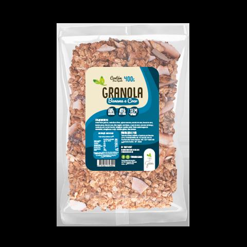Caixa Granola Banana e Coco Granel - 10kg