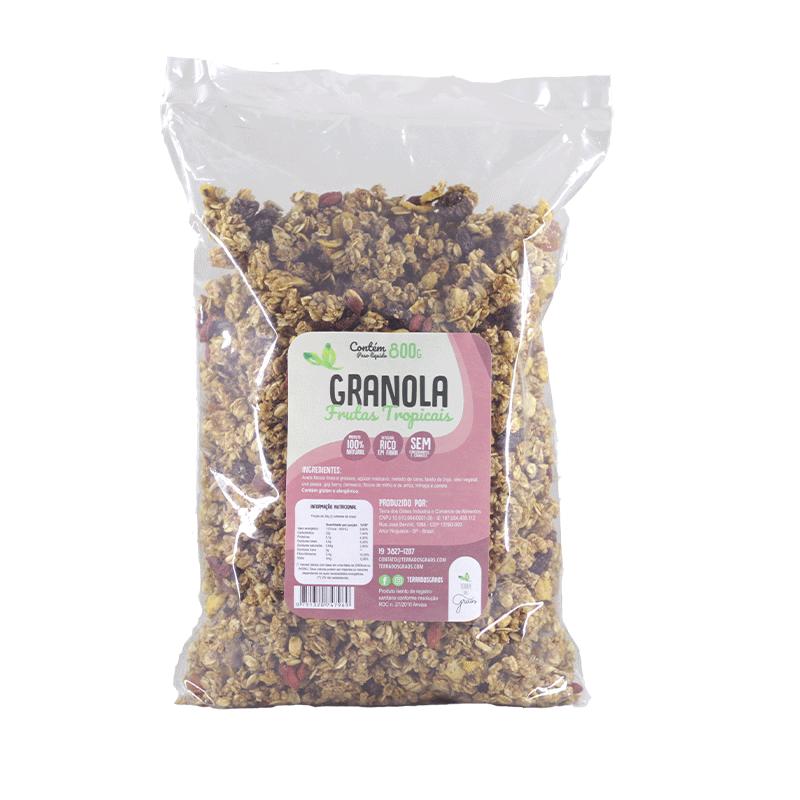 Caixa Granola Frutas Tropicais Granel - 10kg