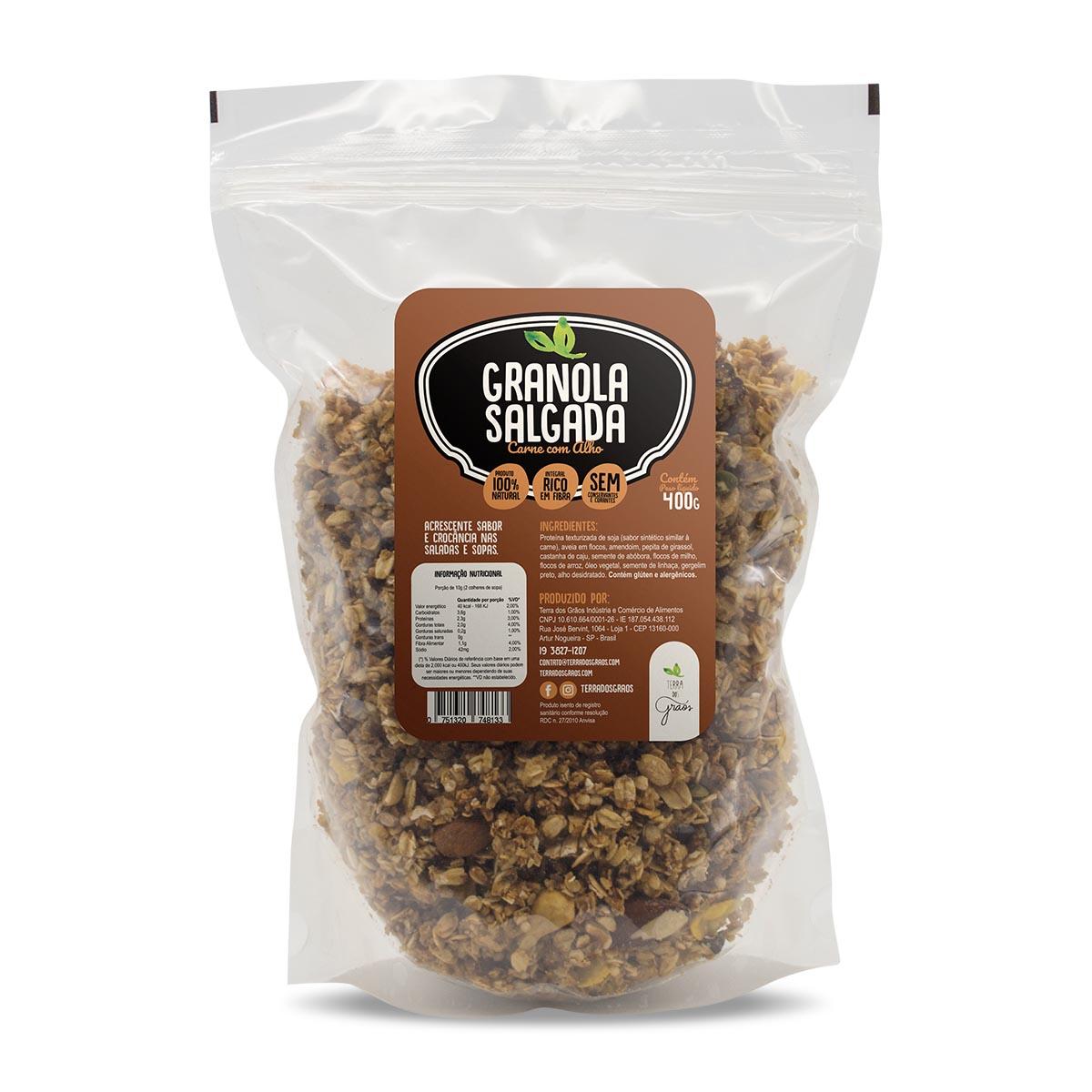 Caixa Granola Salgada Carne com Alho - 10kg