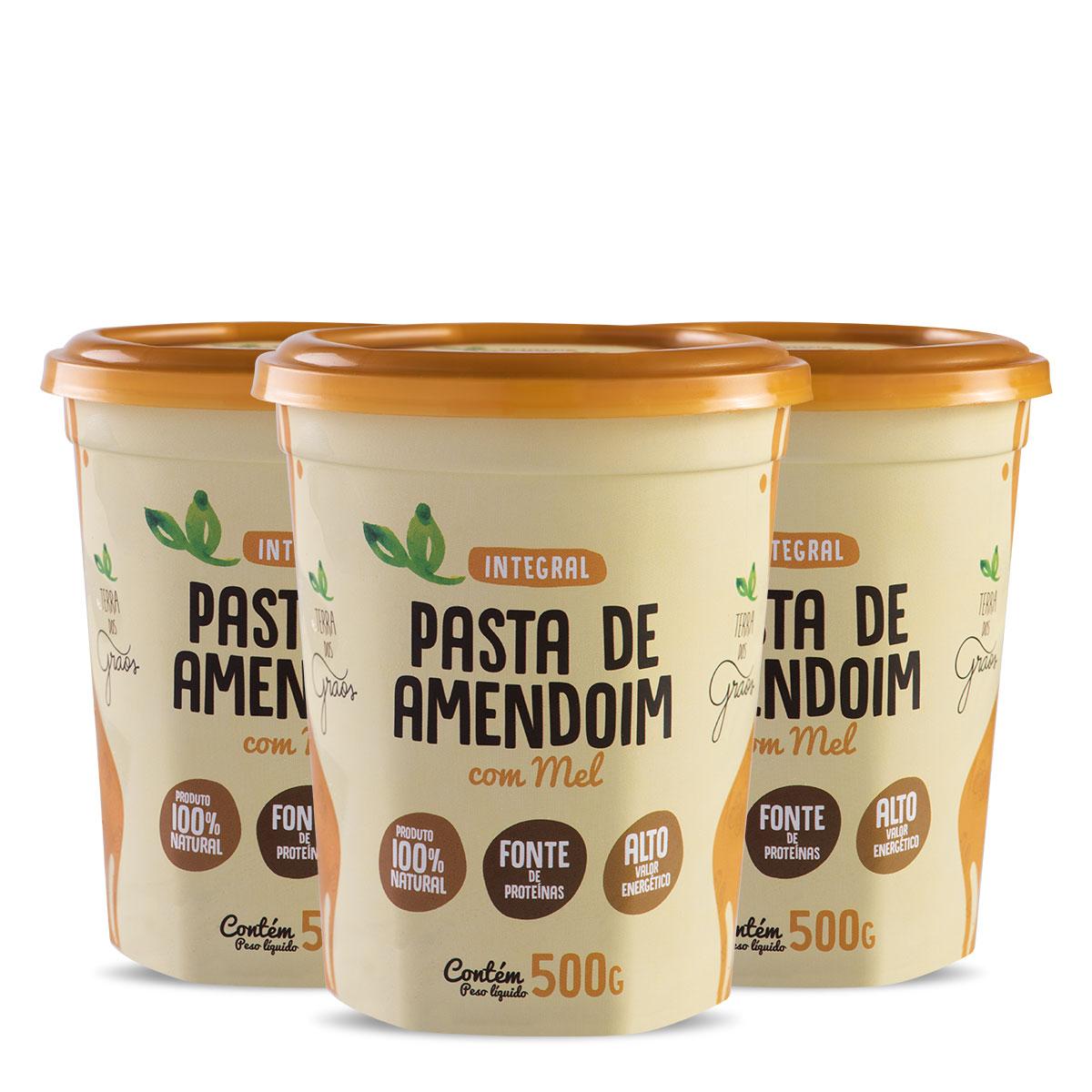 Caixa Pasta Amendoim com Mel 500gr - 8 Unidades