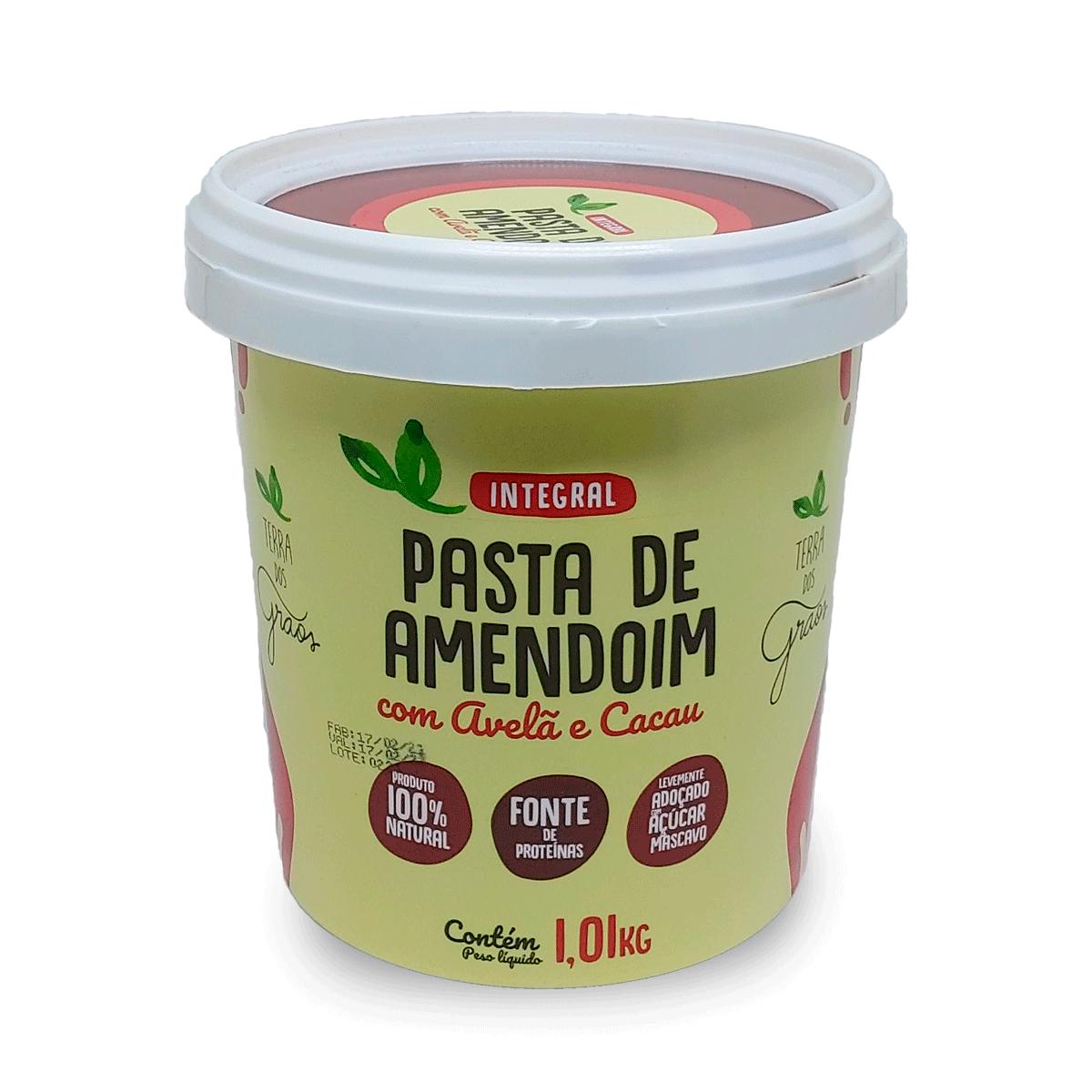 Caixa Pasta de Amedoim com Avela e Cacau 1,01kg - 8 unidades