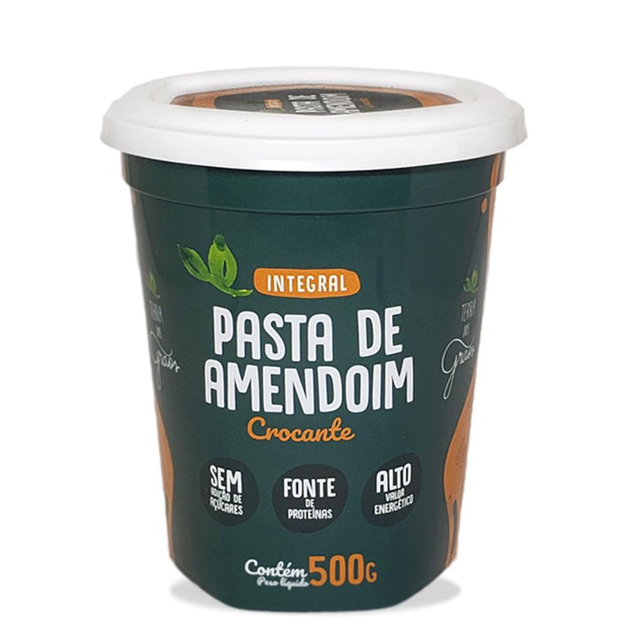 Caixa Pasta de Amendoim Crocante 500gr - 8 unidades