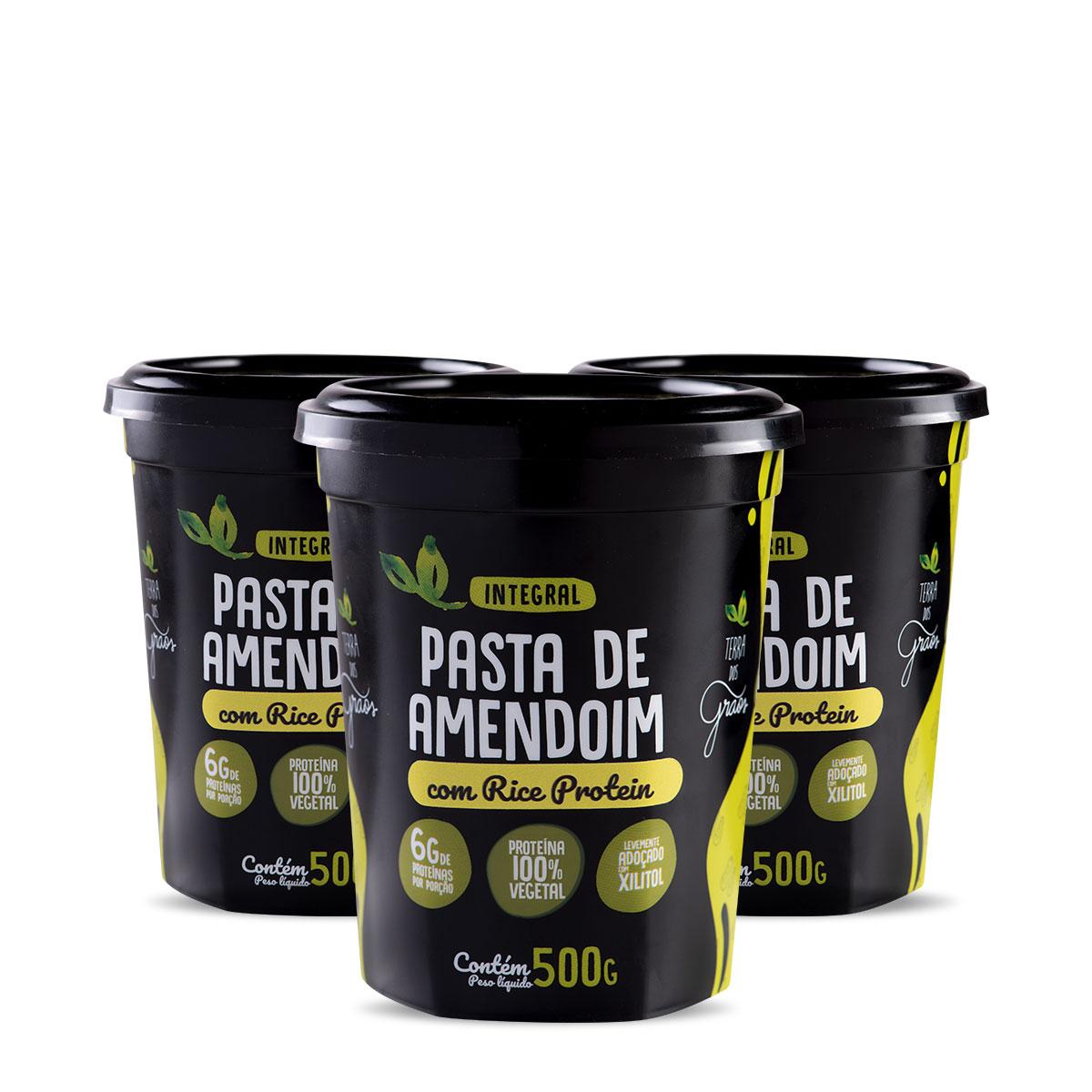 Caixa Pasta de Amendoin com Rice Protein 500gr - 8 unidades