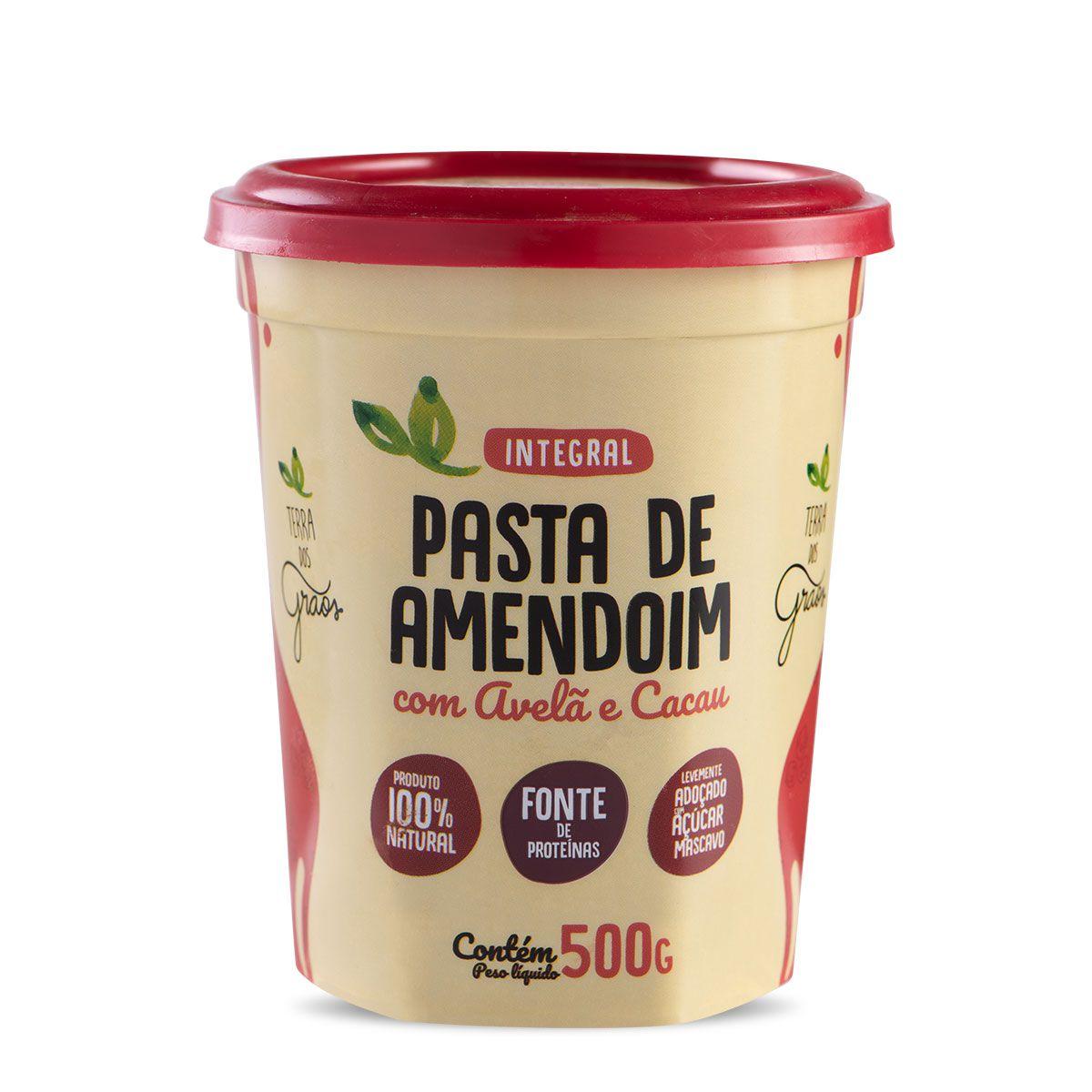 Pasta de Amendoim com Avelã e Cacau