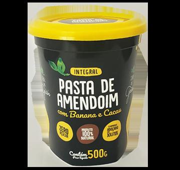 Pasta de Amendoim com Banana e Cacau